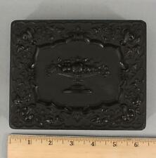 Large Antique 1/2 Half Plate Tintype Thermoplastic Union Case, NO RESERVE!