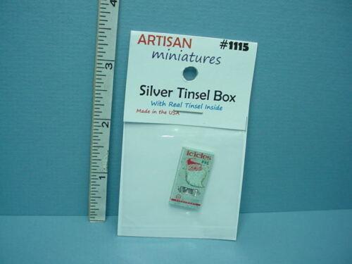 Dollhouse Miniature Tinsel Box  #1115 Artisan Miniatures 1//12th Scale Non-Usable