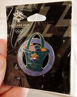 2002 WINTER OLYMPICS Salt Lake City HAPPY EASTER PIN on original card in cello
