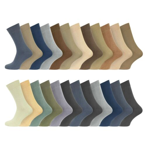 24 paires Homme 100/% coton Everyday Chaussettes Ultra FRESH UK 6-11 EU 39-45 Assortis