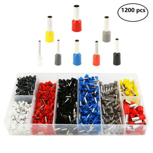 1200pcs Wire Crimp Connector Cable Cord Pin End Ferrule Terminal Kit FA1