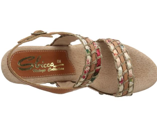 NEW Sbicca Gwendoline Tan/Multi Platform Wedge Sandal Sandal Wedge Flare Heel Donna 10 M 8e85c1