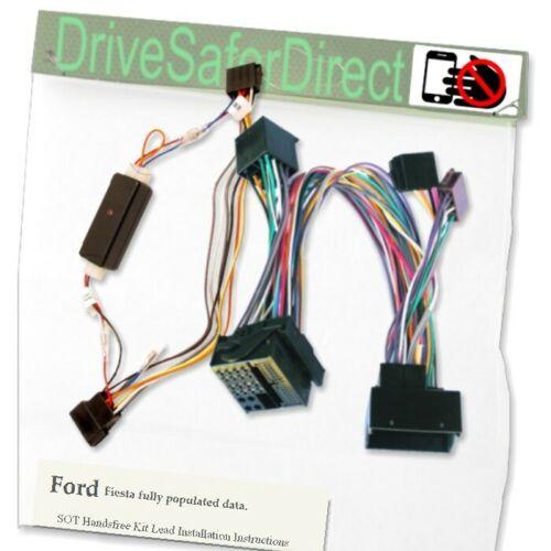 SOT-2082-Ge 2Fit encendido plomo manos libres listo para datos//Ford Fiesta completamente Pop