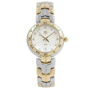 TAG-Heuer-Link-Steel-18k-Gold-Diamond-Silver-Dial-Quartz-Watch-WAT1350-BB0957