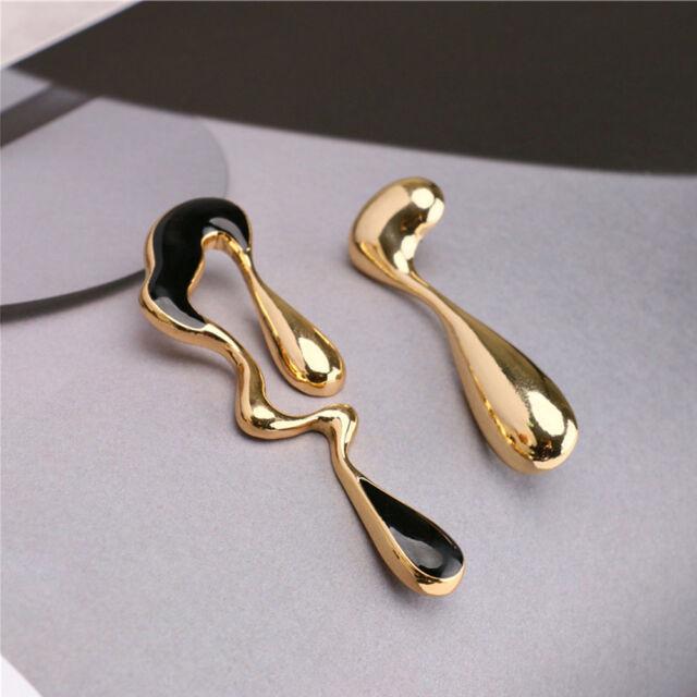 Asymmetrical Stud Earring Alloy Enamel Glaze For Women Accessory us chic