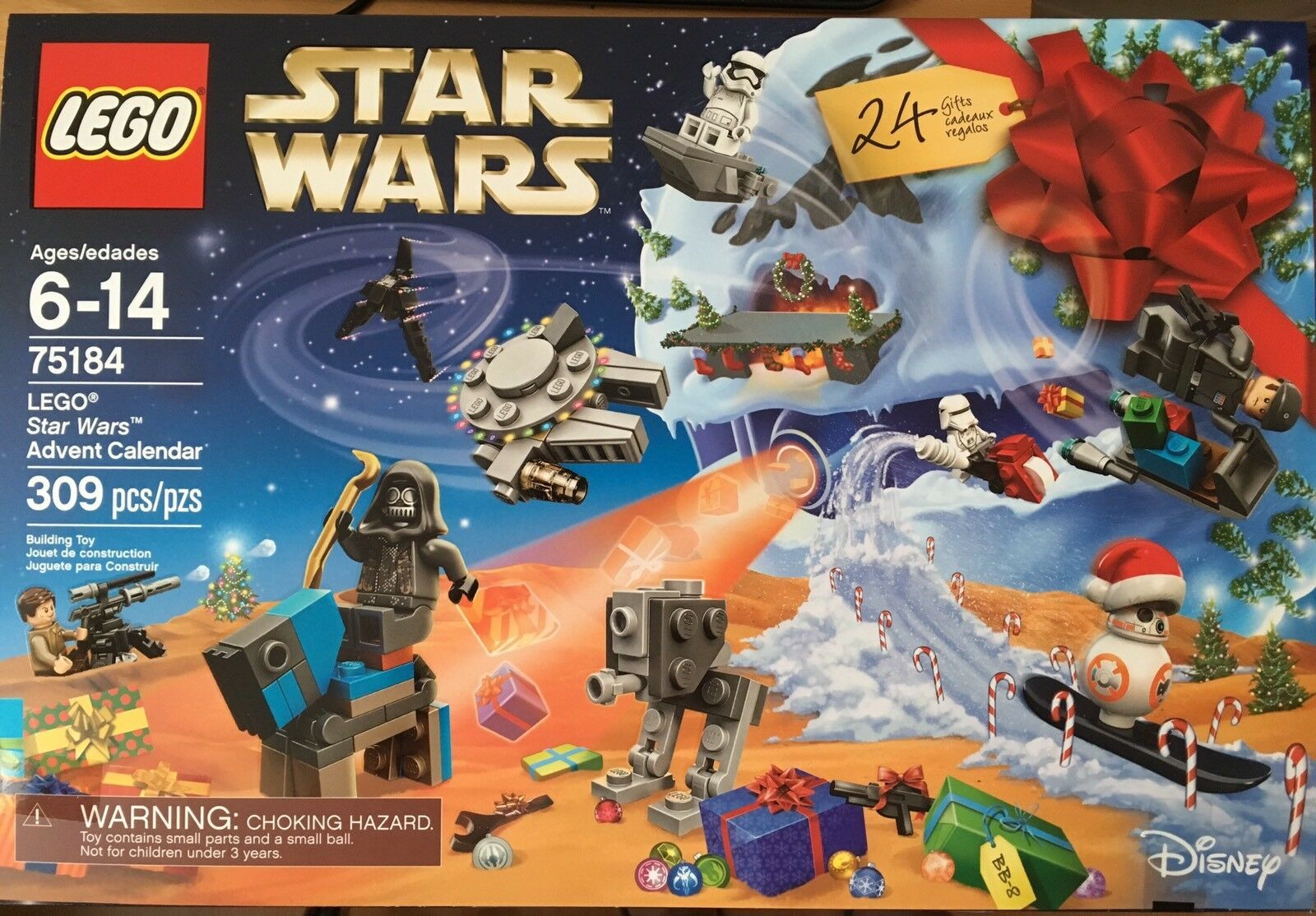 NEW Lego Star Wars 2017 Advent Calendar Calendar Calendar 75184 IN HAND cae81d