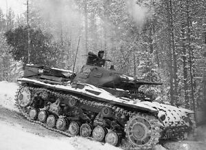 Details about WWII B&W Photo German Panzer III in Snow 1942 WW2 Pzkpfw  III  World War / 4093
