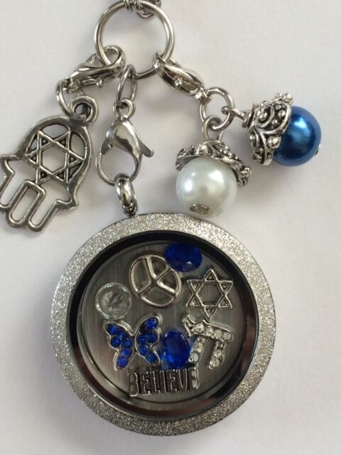 Spiritual Jewish Hand of God, Star Of David Memory Locket W/ Chain
