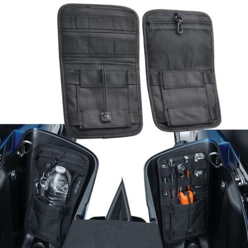 Pair Saddlebag Organizer Hard Bags Storage for Harley Electra Street Glide 80-18
