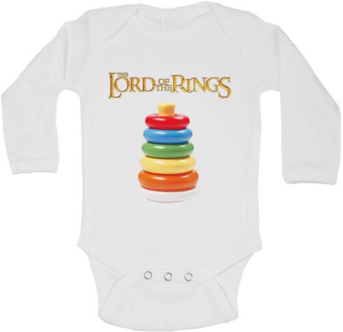 Herr Der Ringe Personalisierte Langärmlig Baby Westen Body Unisex Weiß