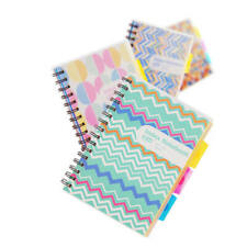 3 Subject Spiral Notebook With Pocket Dividers 230 Pages Wide Ruled Paper B5