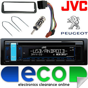 peugeot 206 cc jvc cd mp3 usb aux car stereo radio. Black Bedroom Furniture Sets. Home Design Ideas