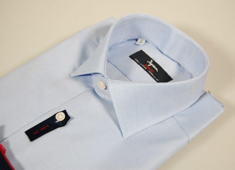 Camicia classica classica classica uomo Ingram No Stiro puro Cotone Oxford Celeste Taglia 45 XXL 92a000