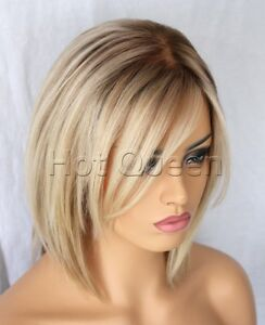 Short Blonde Ombre Wig 92
