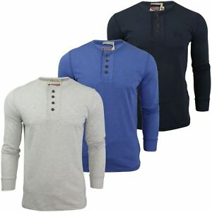 Mens-Grandad-T-Shirt-by-Tokyo-Laundry-039-Lawton-Cove-039-Long-Sleeved
