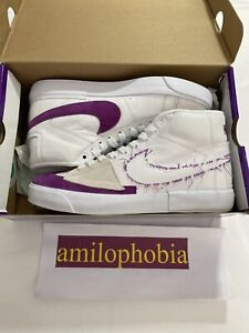 Details about New Mens Size 8 Nike SB Zoom Blazer Mid Edge Lakers