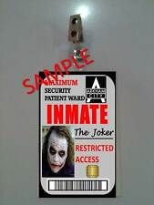 BATMAN The Joker Arkham Asylum ID BADGE  Prop Cosplay Halloween