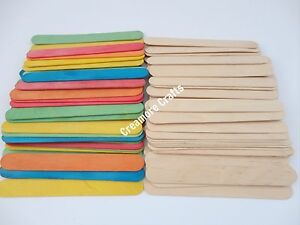 LARGE-JUMBO-NATURAL-OR-COLOURED-WOODEN-LOLLIPOP-ICE-LOLLY-STICKS-KIDS-ART-CRAFT