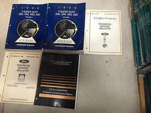 1999-Ford-F-250-F350-450-550-Super-Deber-Truck-Servicio-Tienda-Reparacion-Manual