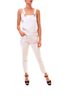 2019 Mode One Teaspoon Women's Overall Chalk Jumpsuit White Size S Rrp $150 Bcf86