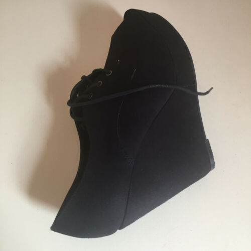 6 Look Effect Women Size New Boot Uk Wedge Ankle Suede 1vxH7Tqf