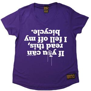 Damen-Cycling-ich-fiel-mein-Fahrrad-atee-T-Shirt-Dry-Fit-V-Neck-T-Shirt