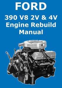 image is loading ford-390-v8-engine-workshop-manual