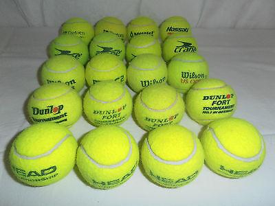 Streng 20 Gebrauchte TennisbÄlle Von Versch. Firmen Im Markenmix StäRkung Von Sehnen Und Knochen