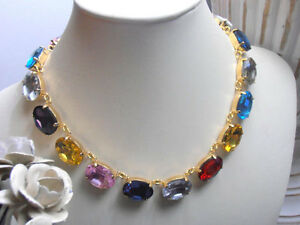 MADE TO ORDER Anna Wintour Necklace Art Deco Choker Gold Swarovski Necklace