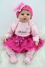 "22"" Reborn Baby Dolls Newborn Lifelike Fake Babies Soft Silicone Vinyl Girl Doll"