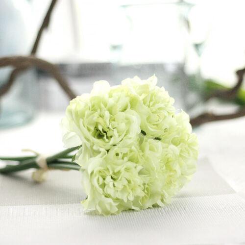 5 Heads 1 Bunch Artificial Hydrangea Floral Fake Flowers Bouquet Party Decors