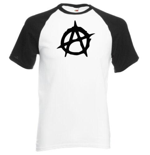 NOIR ANARCHY T-shirt manches courtes contrasté homme BLANC