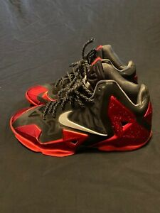 official photos 89268 0d786 Image is loading NIKE-LEBRON-XI-11-MIAMI-HEAT-AWAY-RED-