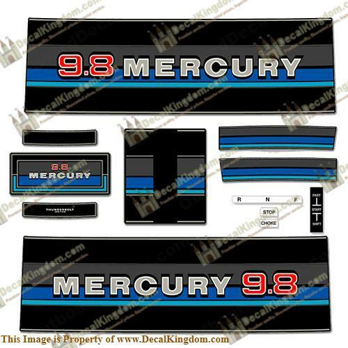 Mercury 1980-1982 Outboard Decal Kit (Multiple Sizes Available) 3M Marine Grade