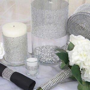Diamant Strass Band Mesh Verpackungs Hochzeit Blumenschmuck Deko