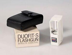 MINOLTA DOUFIT-S FLASHGUN IN ORIGINAL CASE AND BOX