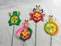 Garden Bug Yard Stake With Rotating Center 30 Plastic