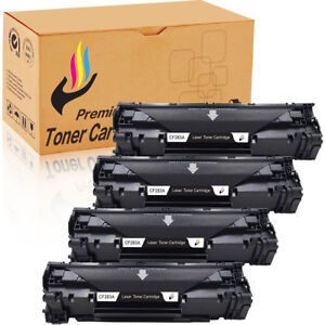 4-Black-83A-CF283A-Toner-Cartridges-For-HP-LaserJet-Pro-M127fn-M127fw-M125nw-MFP
