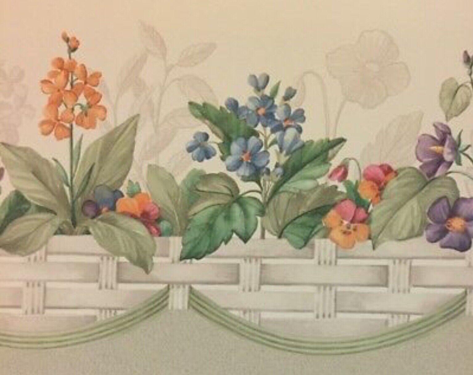 Longaberger Wallpaper Border Botanical Fields 5 Rolls Scalloped
