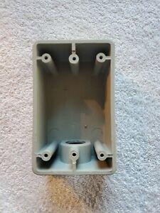 "Kraloy PVC Electrical Box Wet Weatherproof 1 Gang 1 Hole 3//4/"" Gray #FSE07"