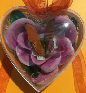 Heart Shaped Butterfly Memory Ornament - Red San Gria Butterfly