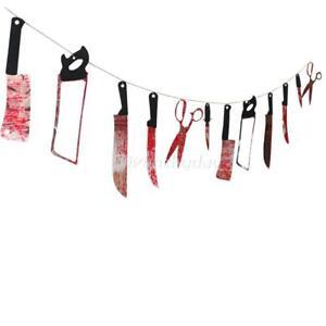 halloween-sanglantes-armes-garland-prop-decoration-sang-couteau-suspendu-FETE