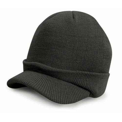 RESULT Esco Armée Tricoté Unisexe Beanie Chapeau Avec Pic hivers Wear Warm Wooly Cap