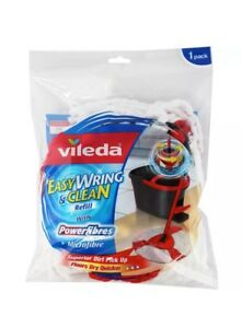 2x Vileda Easy Wring and Clean Spin Mop Refill