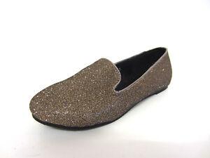 Spot On Girls Shoes H2R243 Gold Flat Shoes (R8B)