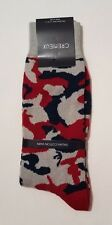 Cremieux Mens Camo Dress Socks Italian Cotton Yarn Size 6-12 1/2 NWT New