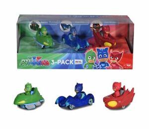 DICKIE-TOYS-PJ-MASKS-DIE-CAST-METAL-VEHICLES-GEKKO-MOBILE-CAT-CAR-OWL-GLIDER