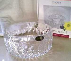 ST-GEORGE-TOSCANY-ANNABELLE-SERIES-5-1-2-Inch-Crystal-Serving-Bowl-NEW-NIB