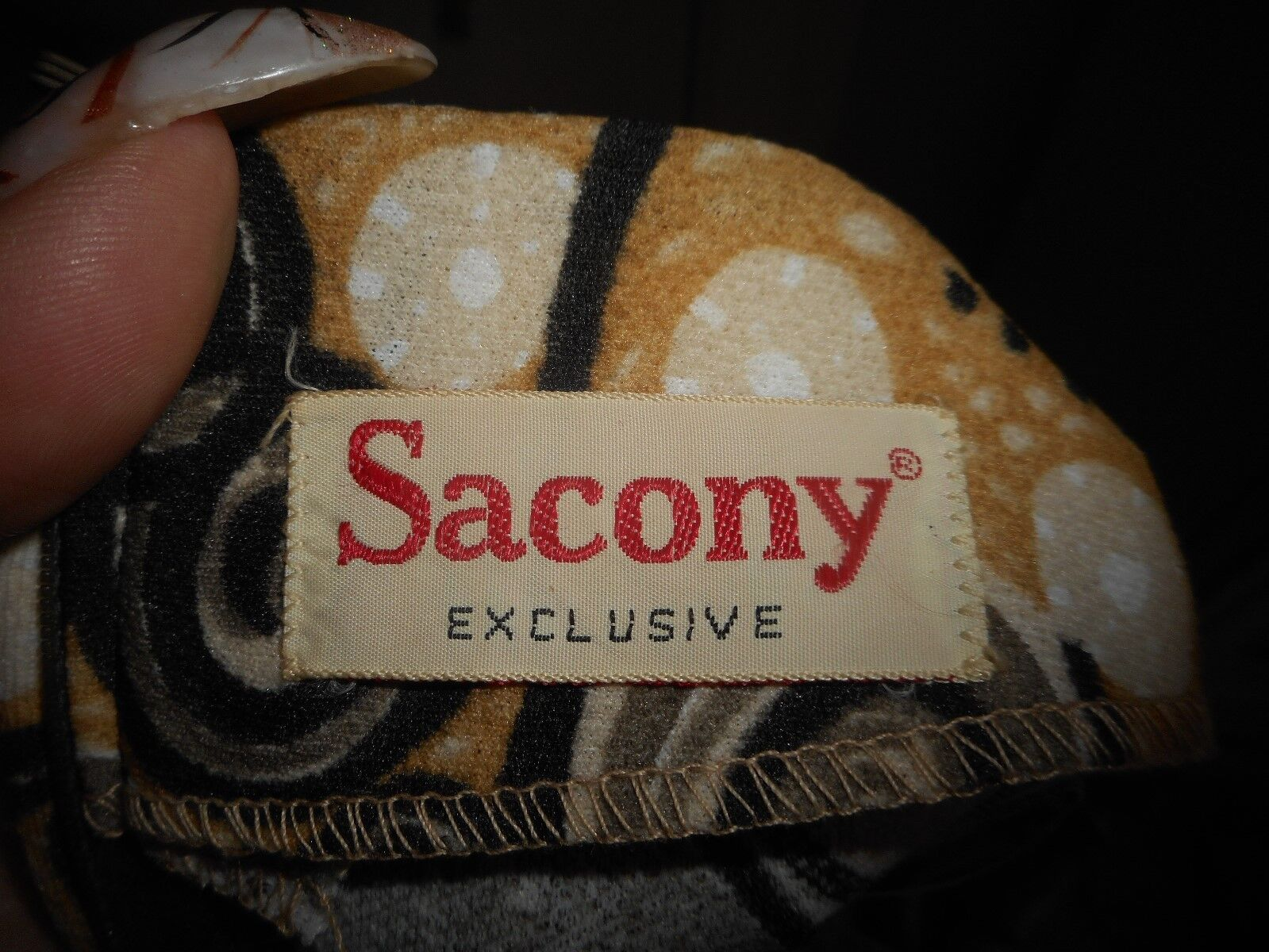 Vintage Sacony Exclusive Dress With Belt - image 5