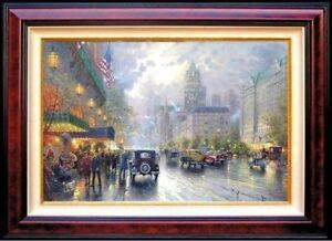 Rare-Thomas-Kinkade-New-York-Fifth-Avenue-18x27-DBL-SGND-G-P